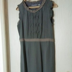Boden Silk Grey & Taupe Dress